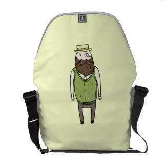 Gentleman with monocle commuter bags