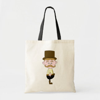 Gentleman with Mustache and Top Hat. Tote Bag