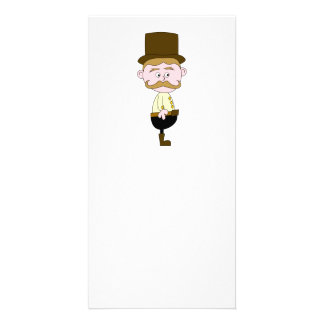 Gentleman with Mustache and Top Hat. Customised Photo Card