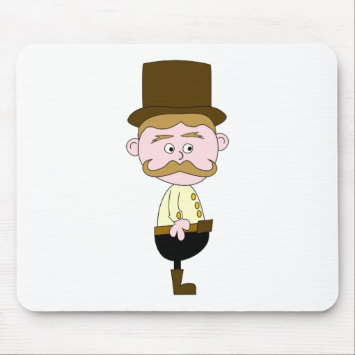 Gentleman with Mustache and Top Hat. Mousepad