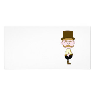 Gentleman with Mustache and Top Hat. Photo Cards