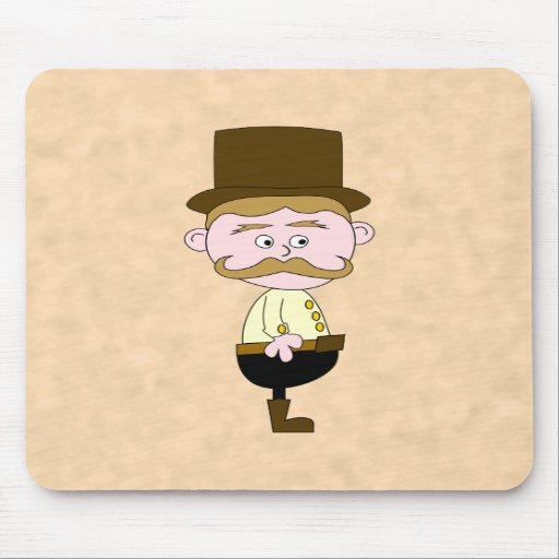 Gentleman with Top Hat and Mustache. Mouse Pad
