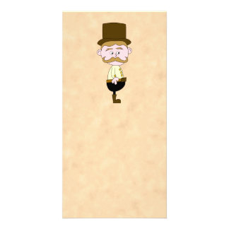 Gentleman with Top Hat and Mustache. Photo Cards