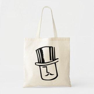 Gentleman With Top Hat Budget Tote Bag