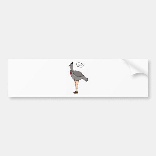 Gentlemanbird Bumper Sticker