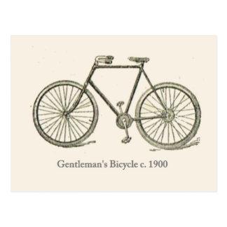 Gentleman's bicycle 1920 postcard
