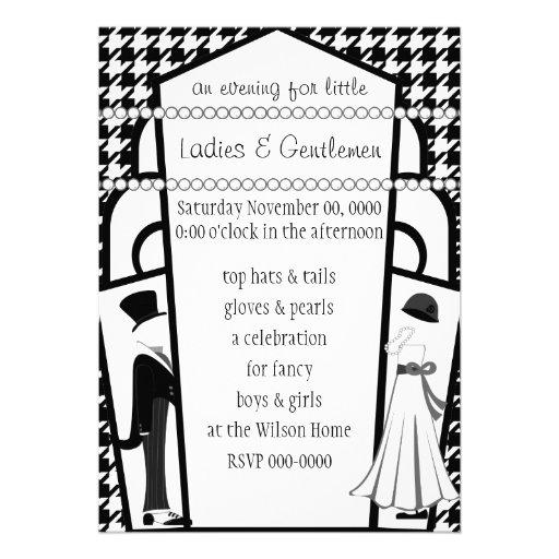 Gentlemen and Ladies Custom Invite