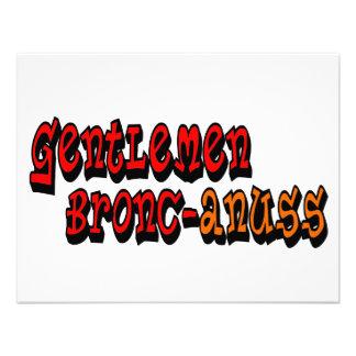 Gentlemen Bronc-anuss Broncos Personalized Announcement