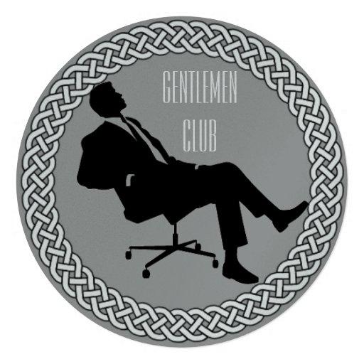 Gentlemen Club Invitations Invitation