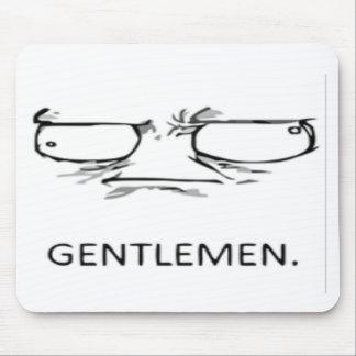 Gentlemen comic face mouse pad