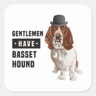 Gentlemen Have Basset Hound Sticker