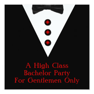 Gentlemen Only Bachelor Party 13 Cm X 13 Cm Square Invitation Card