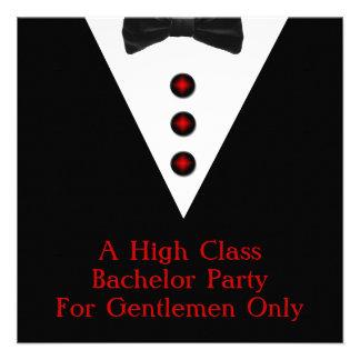 Gentlemen Only Bachelor Party Custom Invite