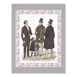 Gentlemen Only Elegant Bachelor's Party 11 Cm X 14 Cm Invitation Card