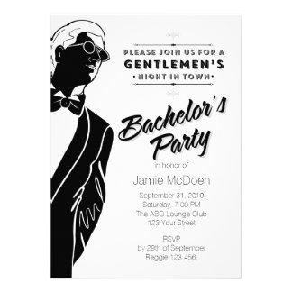 Gentlemen s Bachelor s Party Announcements