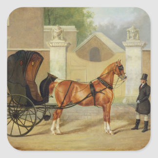 Gentlemen s Carriages A Cabriolet c 1820-30 oil Sticker