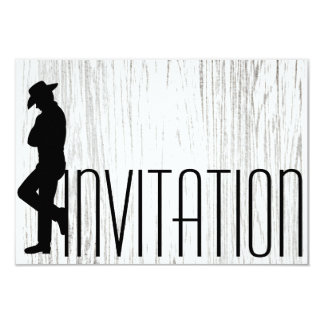 Gentlemen Vip Cigars Man Black White Silver Wood 9 Cm X 13 Cm Invitation Card