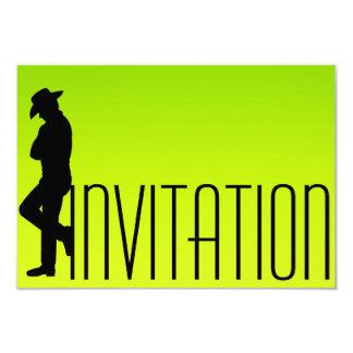 Gentlemen Vip Cigars Man Fluorescent Ombre 9 Cm X 13 Cm Invitation Card