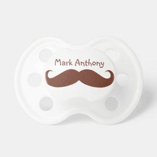Gentlemens Handlebar Mustache Pacifier (Brown2)