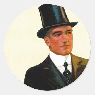 Gentlemen's Shirts Collars and Cuffs Round Sticker