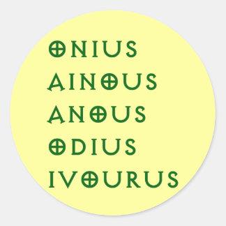 Gentlement Broncos Onius, Ainous, Odius, Ivourus Round Sticker