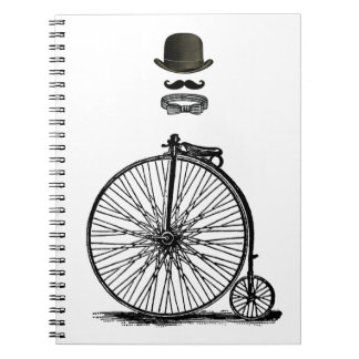 Gentleme's Penny Farthing Spiral Notebook