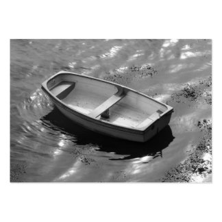 Gently rocking rowing boat on a hot summers day pack of chubby business cards