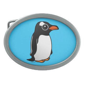 Gentoo Penguin Oval Belt Buckles