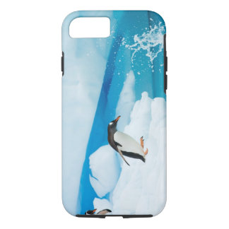 gentoo penguin, Pygoscelis Papua, jumping off an iPhone 8/7 Case