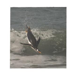 Gentoo Penguin (Pygoscelis papua) Sea Lion Notepad