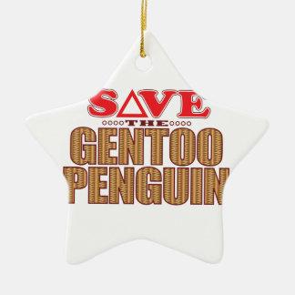 Gentoo Penguin Save Christmas Ornament