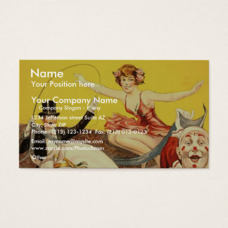 Gentry Bros. circus Miss Louise Hilton Business Card