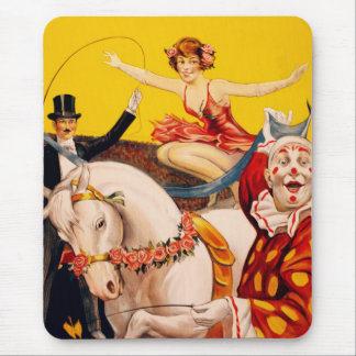 Gentry Bros. Circus Poster ft. Miss Louise Hilton Mouse Mat