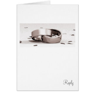 Gents Entwined Rings BLK - Reply Card