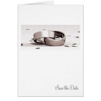 Gents Entwined Rings BLK- Save the Date Card