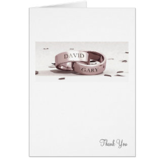 Gents Entwined Rings - Thank You Card