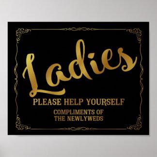 Gents restroom sign - toiletries basket sign