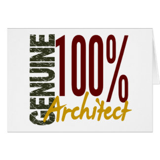 Genuine Architect Greeting Card