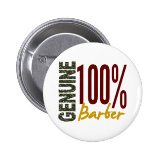 Genuine Barber 6 Cm Round Badge
