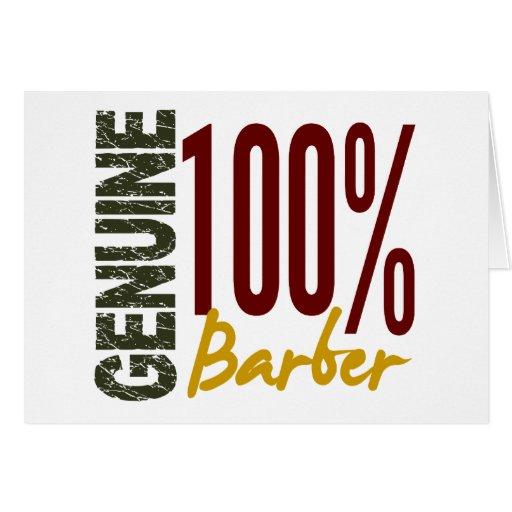Genuine Barber Greeting Card