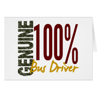 Genuine Bus Driver Card