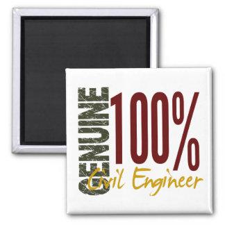 Genuine Civil Engineer Square Magnet