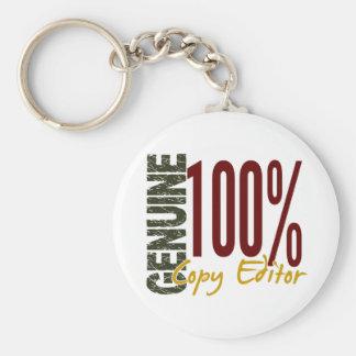 Genuine Copy Editor Keychain