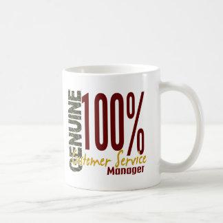 Genuine Customer Service Manager Basic White Mug