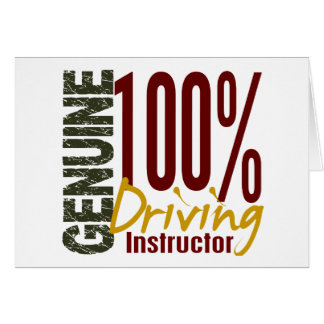 Genuine Driving Instructor Greeting Card