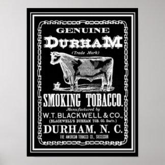 Genuine Durham Tobacco Ad Poster 12 x 16