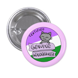 Genuine Genderqueer 3 Cm Round Badge