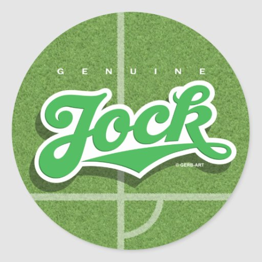 Genuine Jock - sticker (green/grass)
