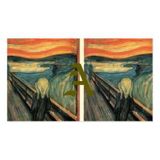 Genuine,Munch,reproduction,the scream,vintage art, Pack Of Standard Business Cards