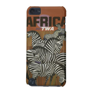 Genuine Zebra Vintage Poster Africa Travel iPod Touch 5G Cases